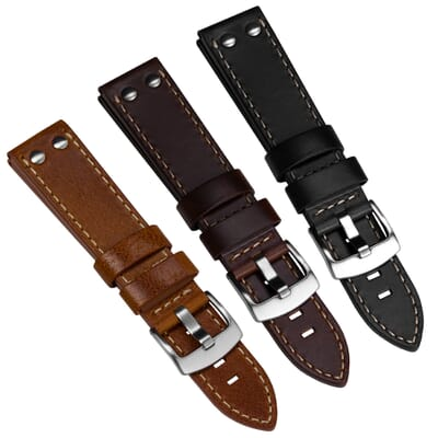 Aldergrove Aviation Leather Watch Strap