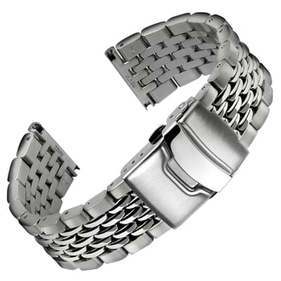 Beads of Rice Stainless Steel Watch Strap