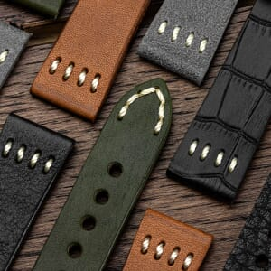 Foxley Genuine Italian Leather Four-Stitch Watch Strap - Free Spring Bar Tool Offer!
