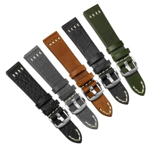 Foxley Genuine Italian Leather Four-Stitch Watch Strap