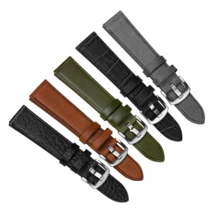 Witley Vintage Style Genuine Italian Leather Watch Strap - Free Spring Bar Tool Offer!