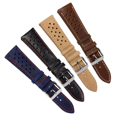 Kington Racing Genuine Leather Watch Strap
