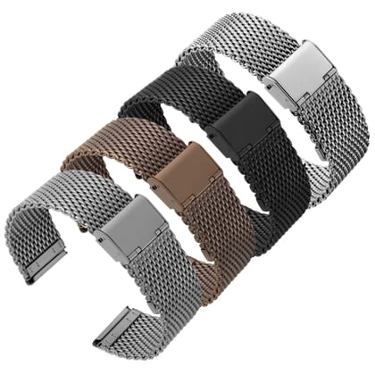 Classic Style Milanese Mesh Watch Strap