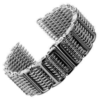 Butterfly H Link Shark Mesh 316L Stainless Watch Strap