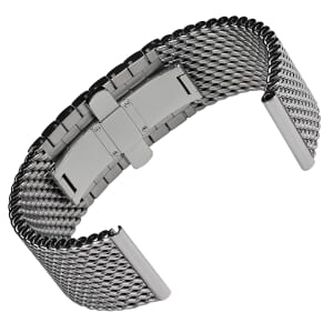 German Premium Butterfly Polished 316L Stainless Steel Mesh Watch Strap