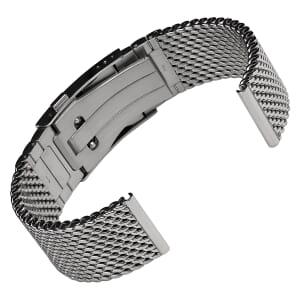 German Premium Polished 316L Stainless Steel Diver's Mesh Watch Strap