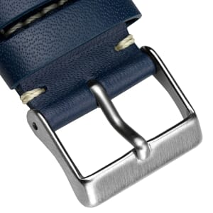 Square Tip Leather Sports Perforated Watch Strap - Shorter Length