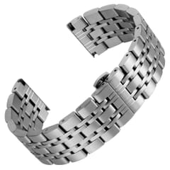 Kildwick Butterfly Solid Link Stainless Steel Watch Strap