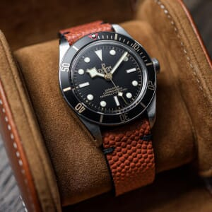 Genuine Horween Basketball Leather Watch Strap - Free Spring Bar Tool Offer!