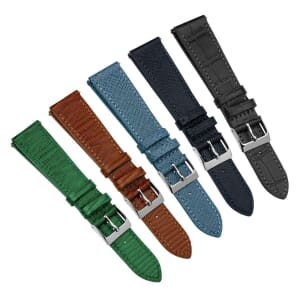 Textured Painswick Quick Release Genuine Leather Watch Strap