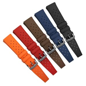 Geckota Quick-Release Classic Tropical Style FKM Rubber Watch Strap