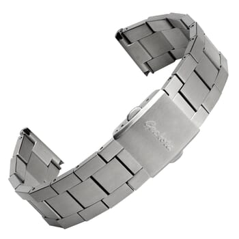 Flat Berwick Stainless Steel Watch Strap