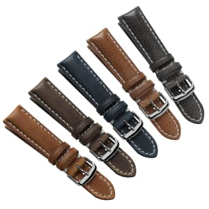 Payton Vintage Thick Padded Genuine Leather Watch Strap