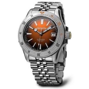 Geckota G-02 Automatic Diver's Watch Steel Edition - Burnt Orange