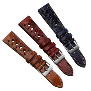 Radstock Vintage Style Genuine Leather Racing Watch Strap