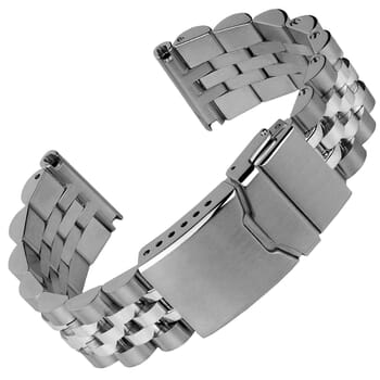 Warrington Solid Stainless Steel Diver's Watch Strap