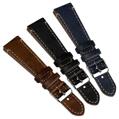 Helmsley Genuine Leather Watch Strap