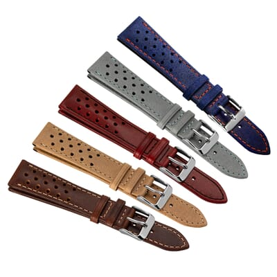 Kington Racing Leather Watch Strap