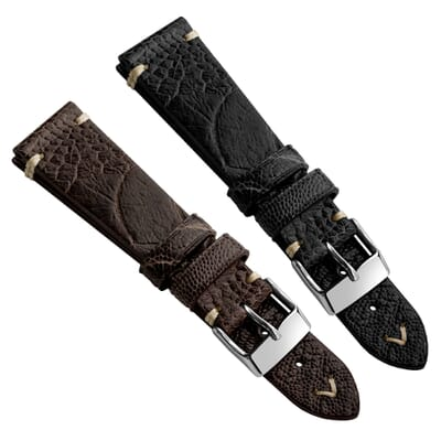 Simple Handmade Ostrich Leather Watch Strap