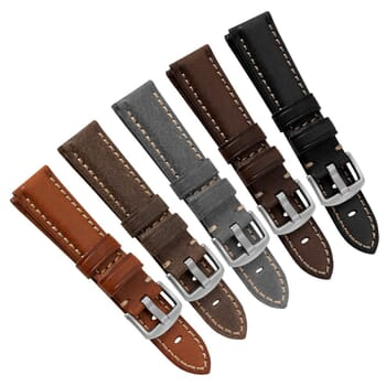 Spexhall Vintage Genuine Leather Watch Strap for SEIKO