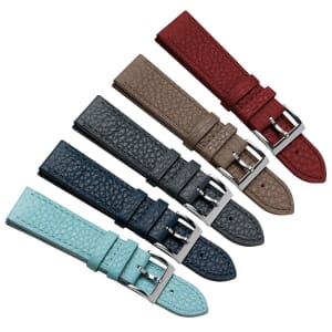 Miami Pastel Grain Genuine Leather Watch Strap