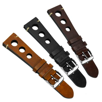 Vintage Prescott Rally Leather Watch Strap