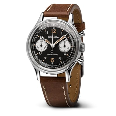 Geckota W-02 Vintage Mechanical Chronograph Military Watch