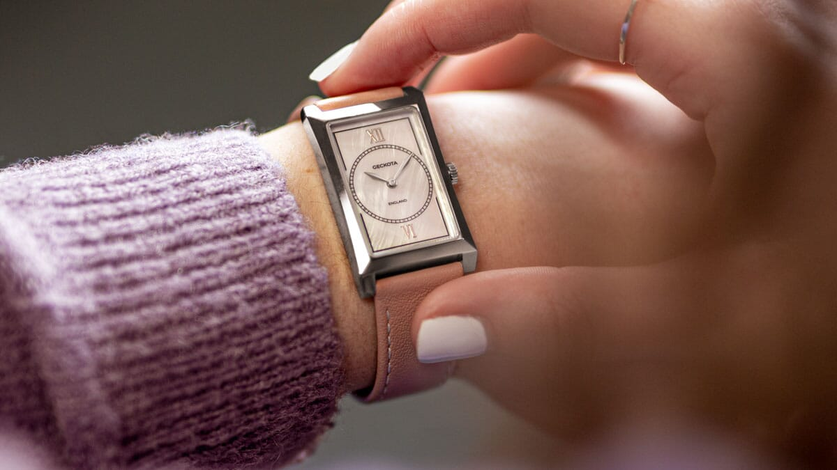 Introducing the R-01 Rectangular Dress Watch- Perfect for Women!